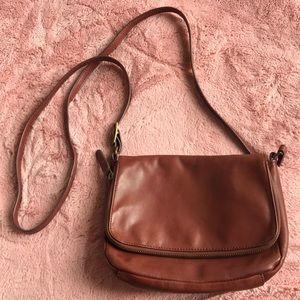 brown crossbody purse